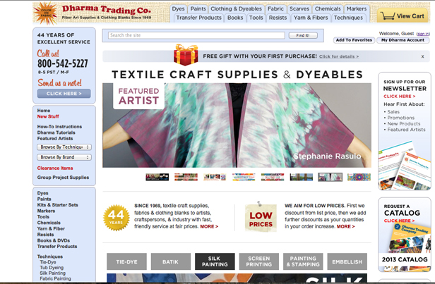 Featured Artist Dharma Trading 1-1-14 resize