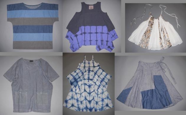 handmade garment collage