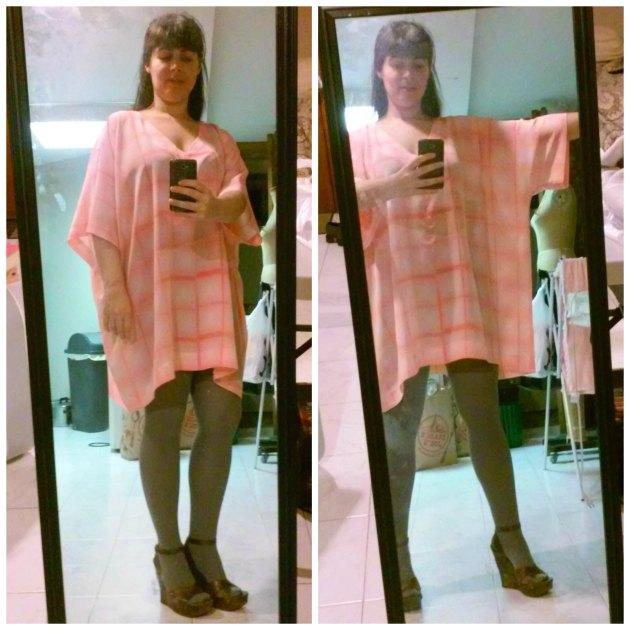 blush pink shibori dyed dress
