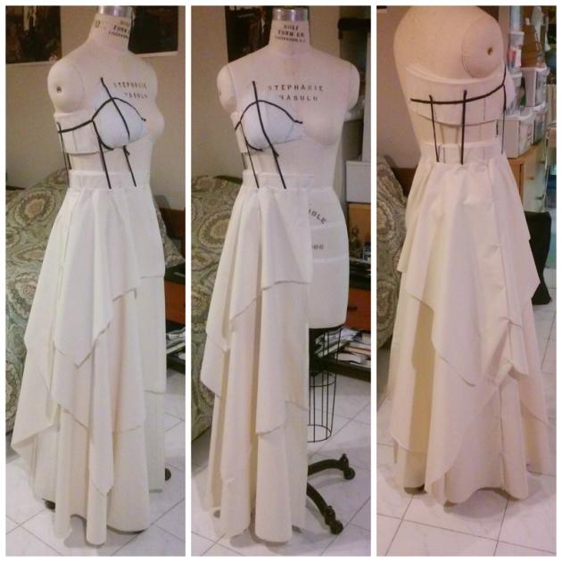 wedding dress muslin