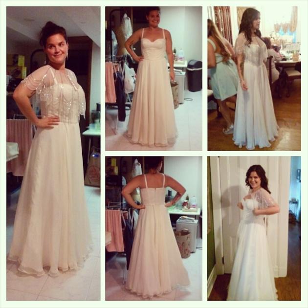 finished wedding dress
