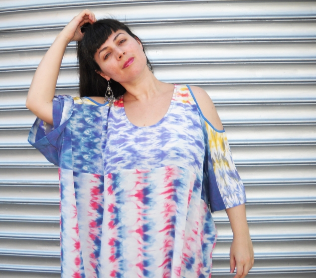 rainbow silk kaftan