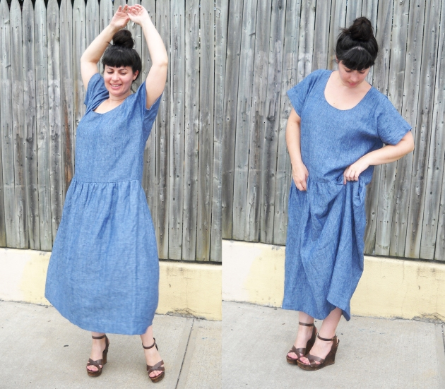 linen babydoll dress