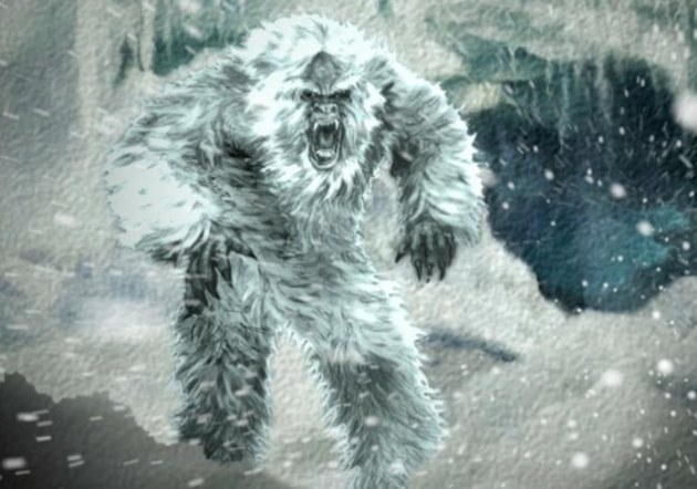 angry abominable snowman